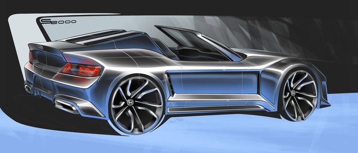 Honda S2000 Digital Sketch