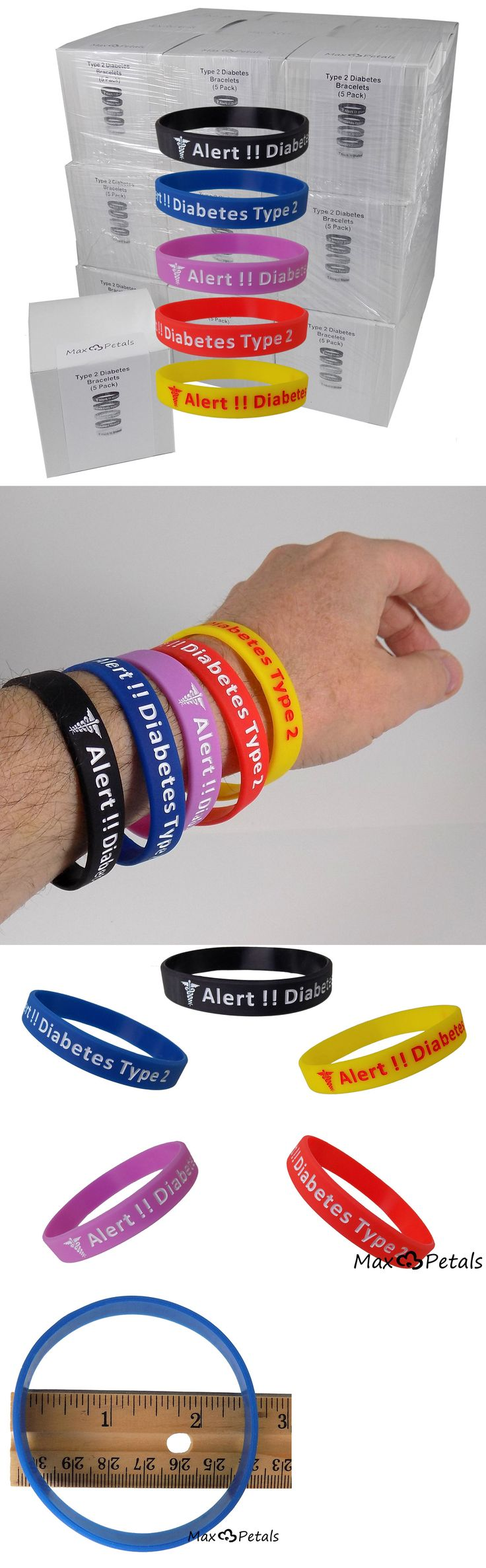 Wristbands 112603: Diabetes Type 2 Silicone Bracelet Wristbands Lot 27 5 Packs -> BUY IT NOW ONLY: $189.95 on eBay!