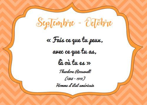 5/6 La citation de Septembre / Octobre
