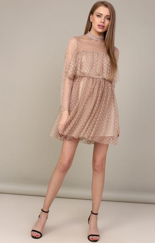 Пышное платье мини в стиле бэби-долл TOP20 Studio / 2000000250572-1