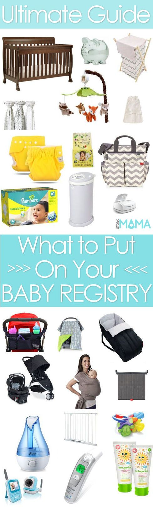 Learn What to put on a baby registry. We've sorted baby items into essentials, wants and luxuries for all parenting styles. Stork Mama