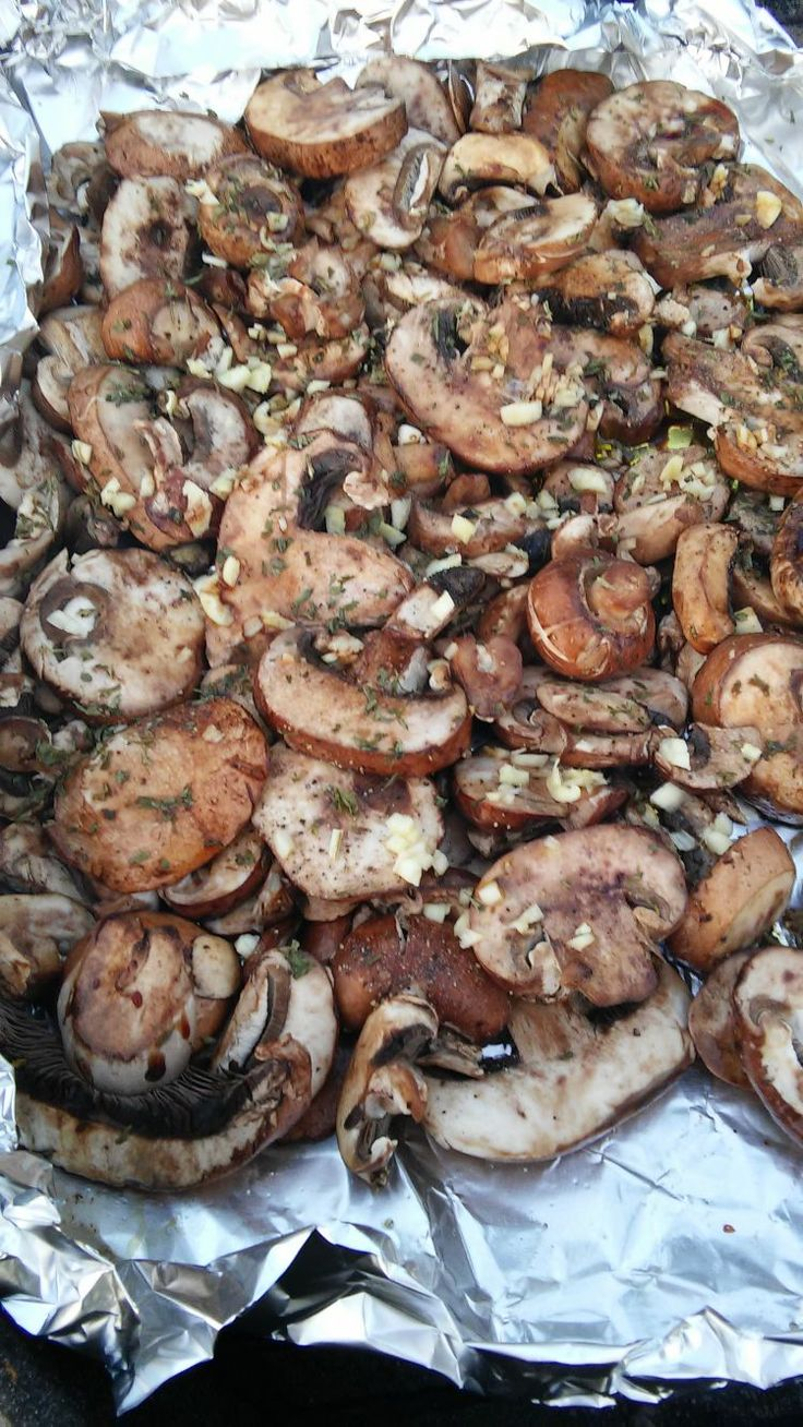 Recipe for Grilled Mushrooms - These healthy grilled mushrooms are so easy to…