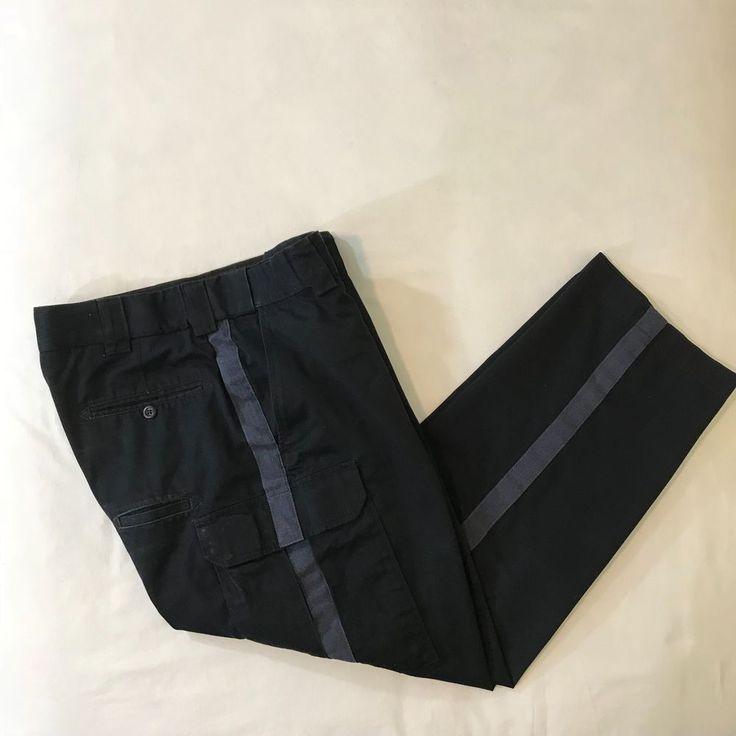 5.11 Tactical Series Mens Cargo Pants Size 35 Blue Cotton Blend Stripe Down Side #511Tactical #Cargo