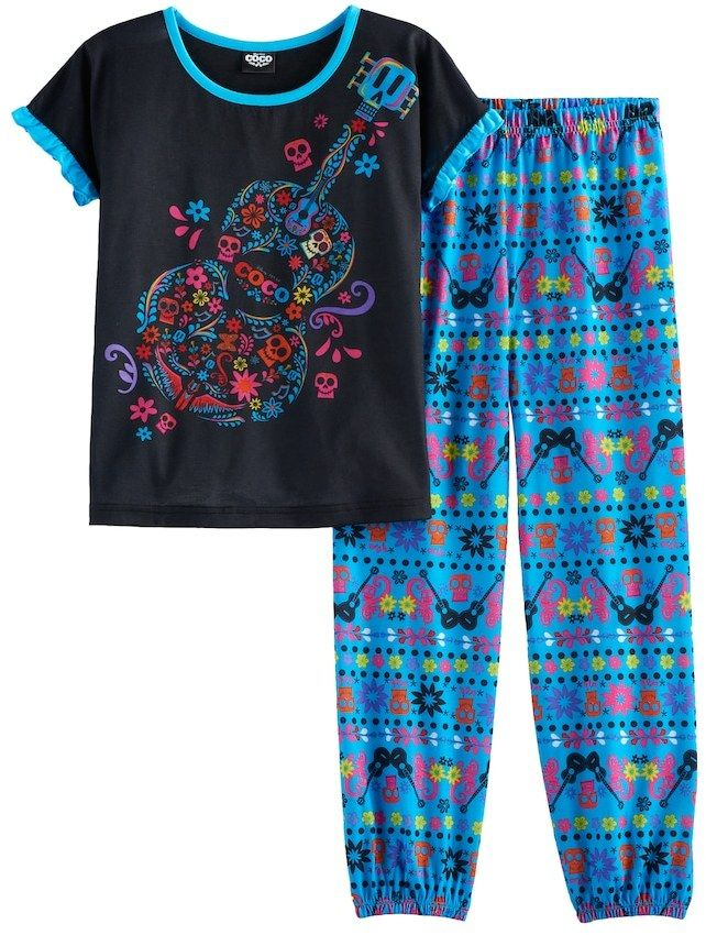 3ebc9b8f2 Disney / Pixar Coco Girls 6-12 Top & Bottoms Pajama Set | ☆ Pixar ...