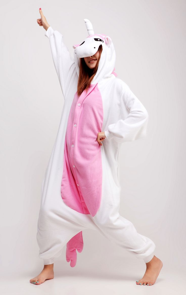 Pink #Unicorn Animal Adult #Kigurumi #Onesie Become legendary and project your greatness while you wear your Kigurumi outfit.