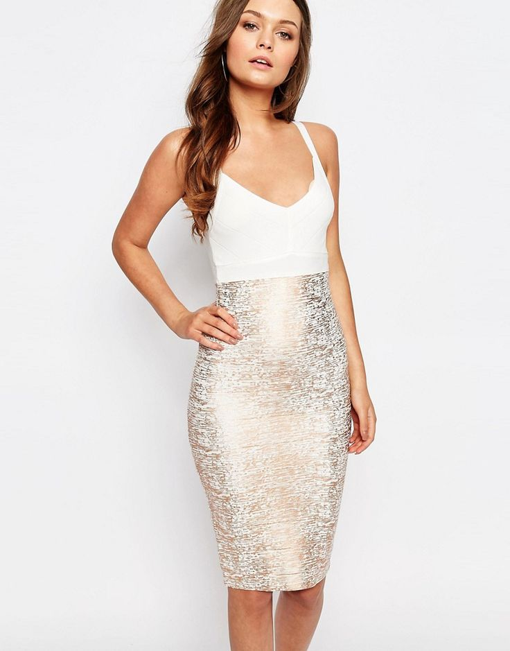 New Look Foil Bandage Bodycon Dress perfect for 27th birthday!
