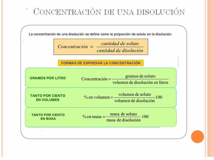 Formas de medir la CONCENTRACIÓN de una disolución