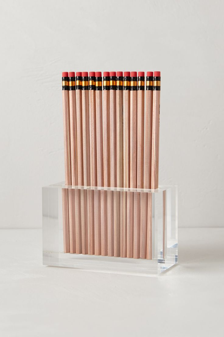 russell & hazel lucite pencil holder