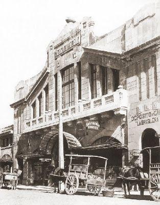 Frontis del Mercado de Temuco inaugurado el año 1929, Colección Diario Austral