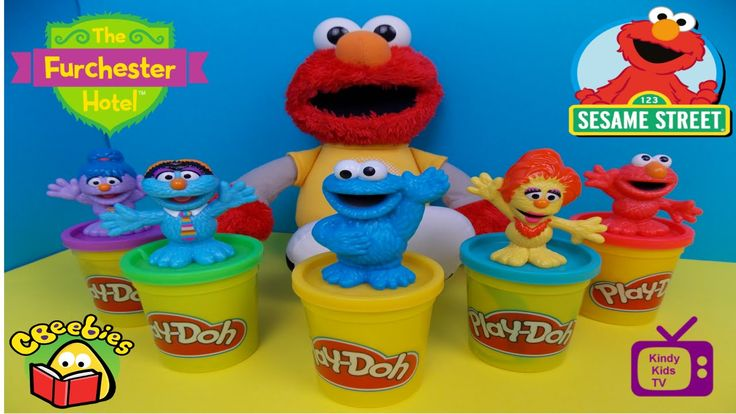Play-Doh. fun with ELMO & The Furchester Hotel Toys.