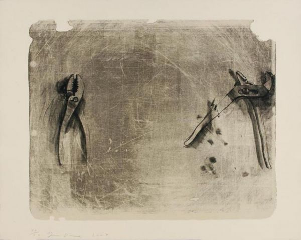 Tamarind Institute of Lithography   Jim Dine: Tools for Creeley I