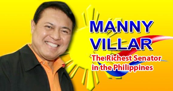 """The richest senator in the Philippines is Manuel """"Manny"""" B. Villar, Jr. He was born on December 13, 1949 in Tondo, Manila (Philippines). He was elected Senator of the Philippines in June 30, 2001. According to the Philippine Star, a popular newspaper in the Philippines, his net worth in 2011 was P854.213 million based on his Statements of Assets, Liabilities and Net Worth (SALN) in 2011.  Read more…"""
