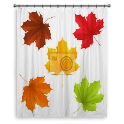 Collection Of Color Autumn Leaves Shower Curtains