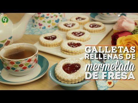 ¿Cómo preparar Galletas Rellenas de Mermelada de Fresa? - Cocina Fresca - YouTube