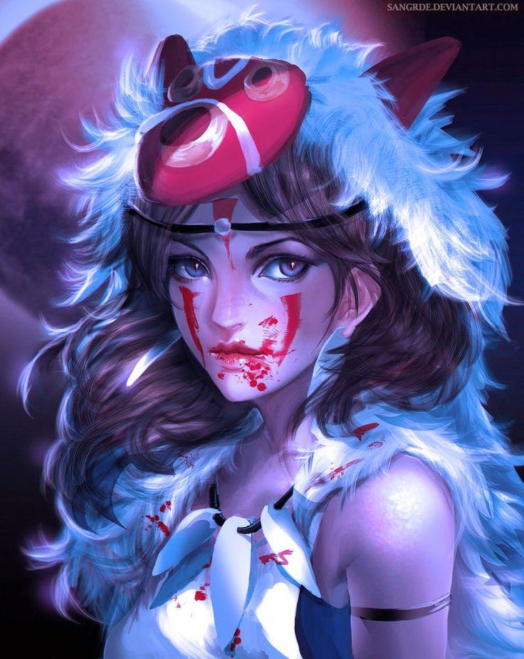 :: Mononoke Hime :: by Sangrde on DeviantArt
