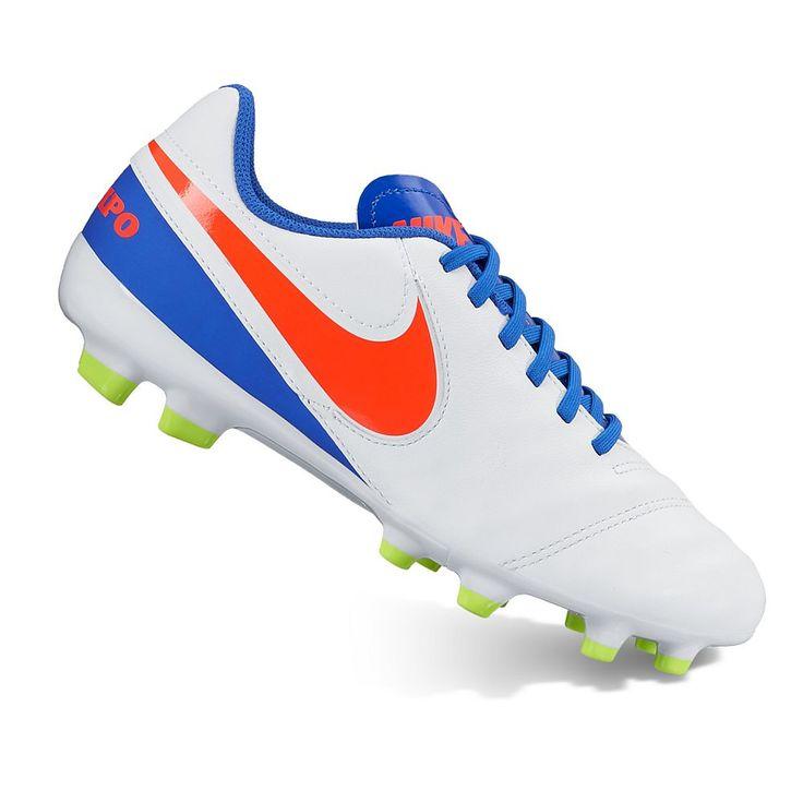 Nike Jr. Tiempo Legend VI Firm Ground Kids' Soccer Cleats, Kids Unisex, Size: 12, White Oth
