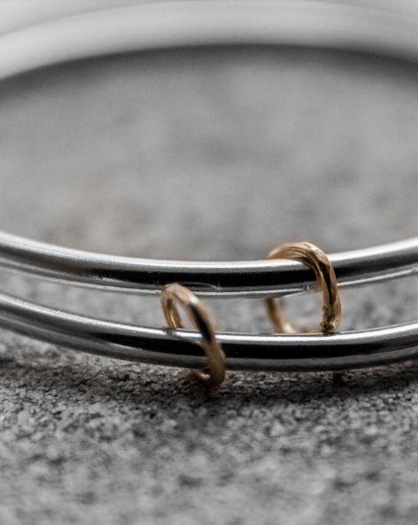 Bracelet 1 2 700 kr 1  bangle in 925 sterling silver and 18k gold.  Sold separately.