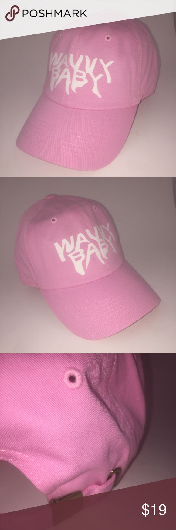 Wavvy Baby Dad Hat NWT This Pastel Pink Strapback Dad Hat is adjustable with tuck pocket NEW___Ignore tags: huf, weed, marijuana, kush, obey, stussy, dope, trill, Blvck, boy london, paris, joggers,  trap style, rave, rare, huf, blvck fashion, trill, pipe, dabber, glass, sad, me, goth, goth girl, woes, the six, 6ix, ovo, blvck, Brooklyn, London, pikachu, 6 God, glitter, naps, mobb, asap, long style, Ovo, snapback, pastel, Brandy, American, urban, anti social club Accessories Hats