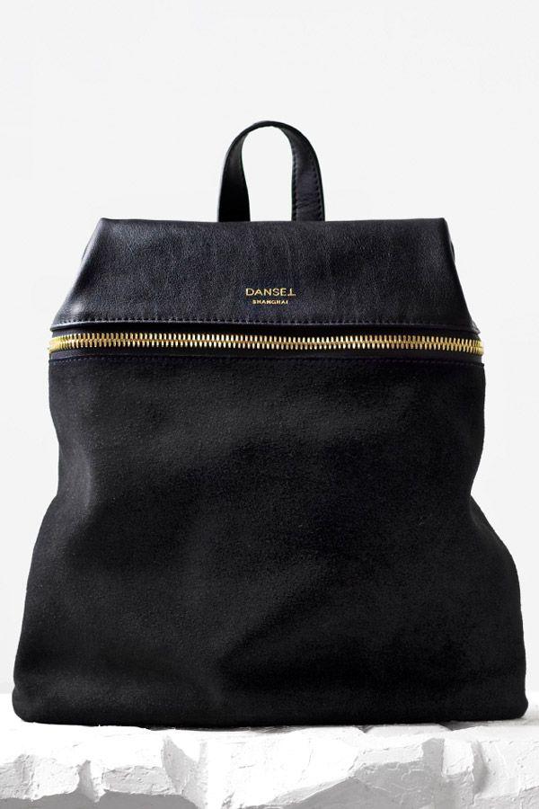 Leather Spliced Big Backpack