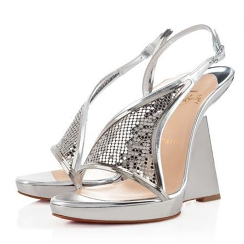 Argento Wedges Roxy Muse Christian Louboutin Is On Hot Sale Here!