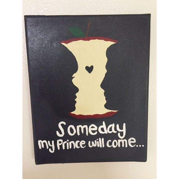Original canvas art painting someday Disney Canvas art someday my prince will come Disney princess inspired Snow White Other