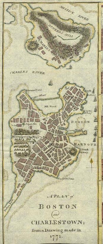1771 Boston Map