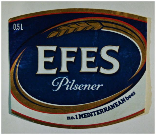 Sörcsap: Sörös címke: Efes Pilsener