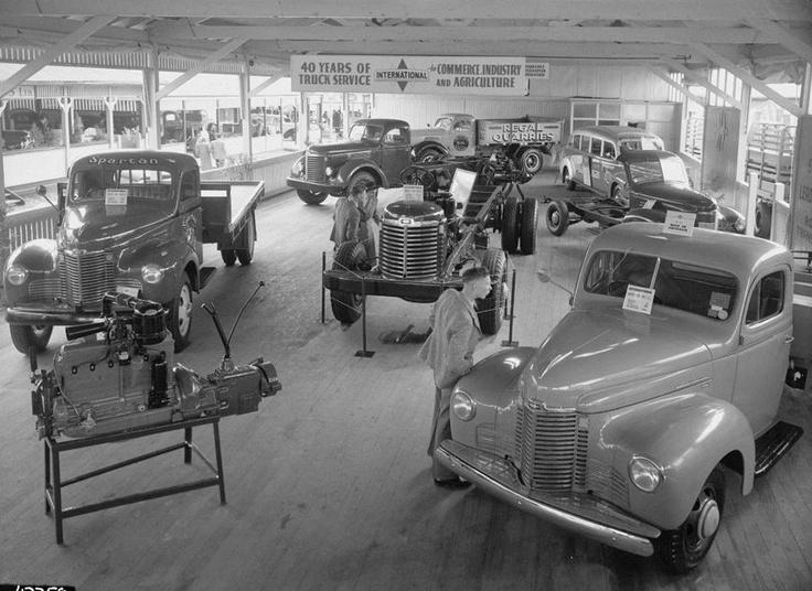 International Harvester, Motor Truck Pavilion Royal Melbourne Show, 1947 - Museum Victoria