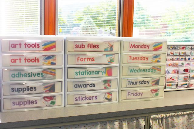 FREE storage drawer labels
