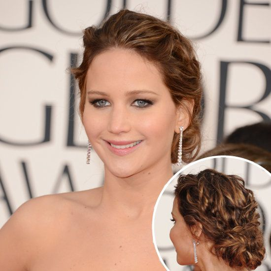 jenifer lawrence updo hairstyles | Jennifer Lawrence | Golden Globes Hair 2013