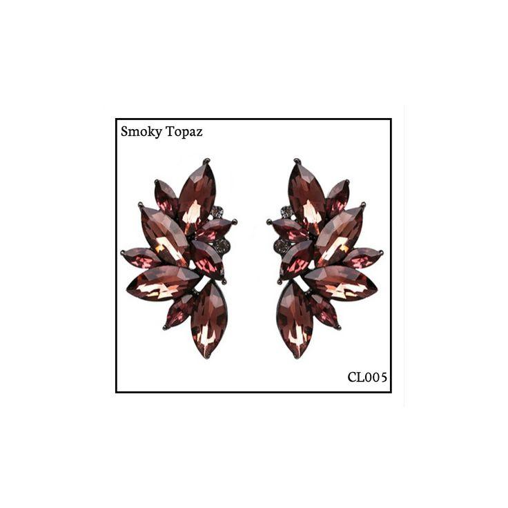 Ref: CL005 Smoky Topaz . Medidas: 4 cm x 2.5 cm . So Oh: 9.99 . Disponível para entrega imediata! Boas compras! #sooh_store #onlinestore #brincos #earrings #fashion