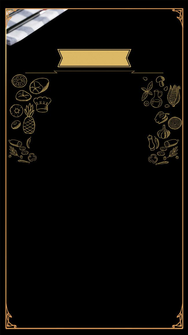 Takeaway Food Icon H5 Black Gold Painted Background Ilustrator