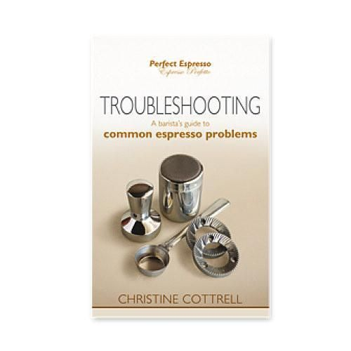 The Troubleshooting Guide explains what is going on if you have a problem when making espresso beverages, and how to clear the hurdles.  It helps identify the problem, and walks you through the solutions.  Covers areas from coffee grinding grievances through to steaming milk mayhem, all set out in table format for easy reference.