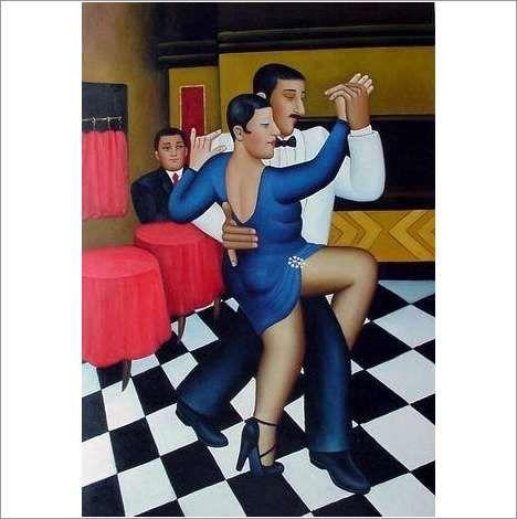 Original Oil On Canvas 'Strictly Ballroom' on eBid United Kingdom
