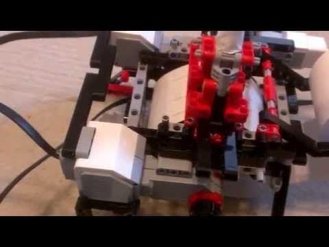 Lego mindstorms EV3 banner printer - YouTube