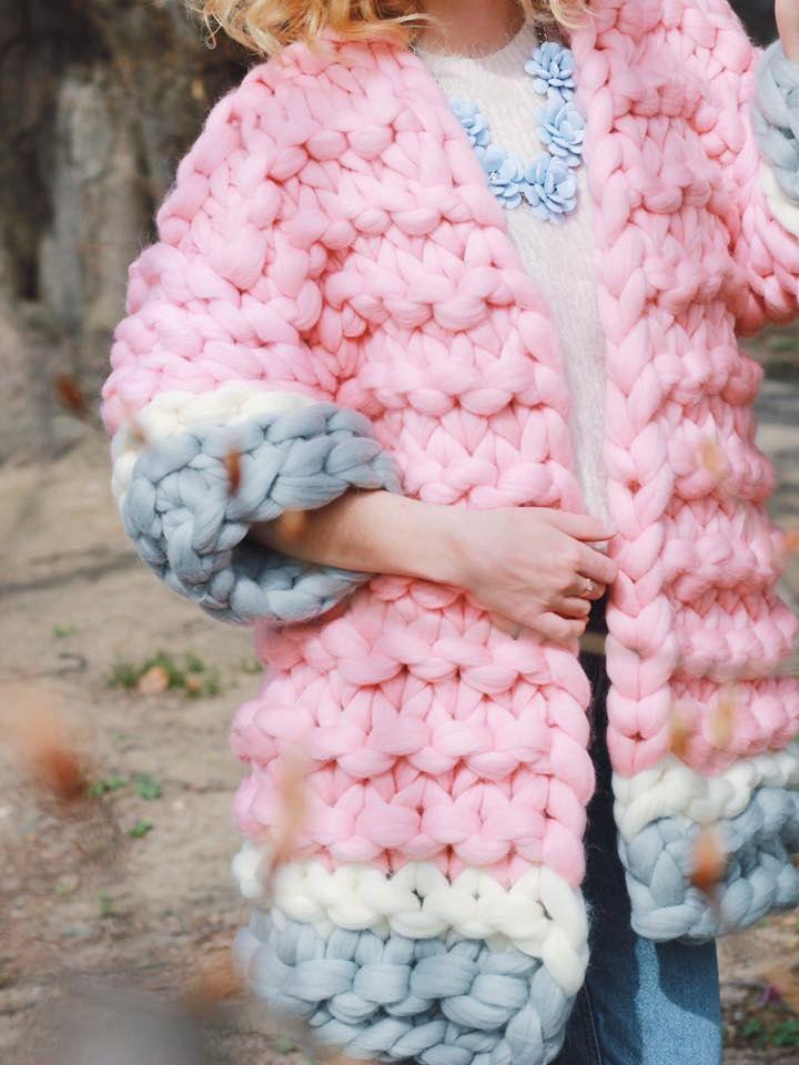 Super Chunky Cardigan, Oversize Cardigan, Super Trendy, Warm Cardigan, Hand Knit Jacket , Merino wool coat, Wool jacket, Knitted, Knitting by YourYarnUa on Etsy
