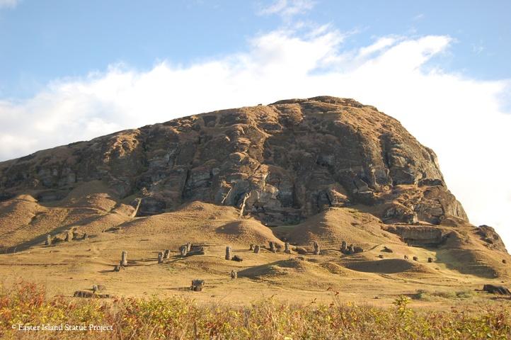 Overview of Rano Raraku exterior slope