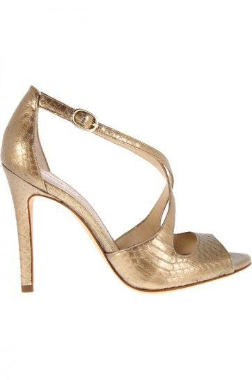 Sandali dorati in pitone dalla collezione primavera estate 2013 di scarpe Alexandre Birman
