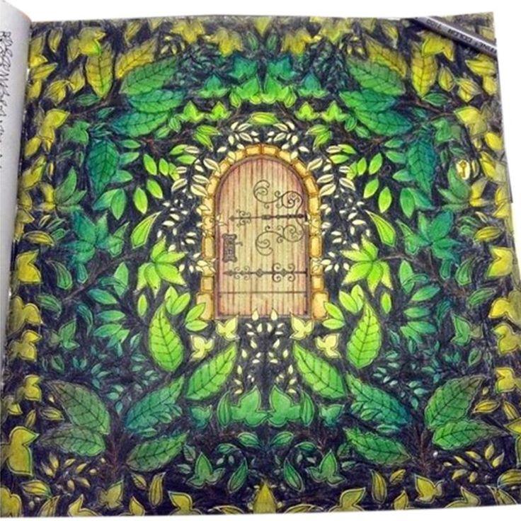 children adult secret garden inky treasure hunt coloring painting book