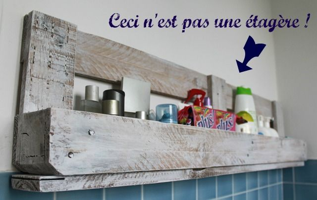 Comment recycler une palette en étagére murale #DIY #Palette @SAVE THE GREEN.fr