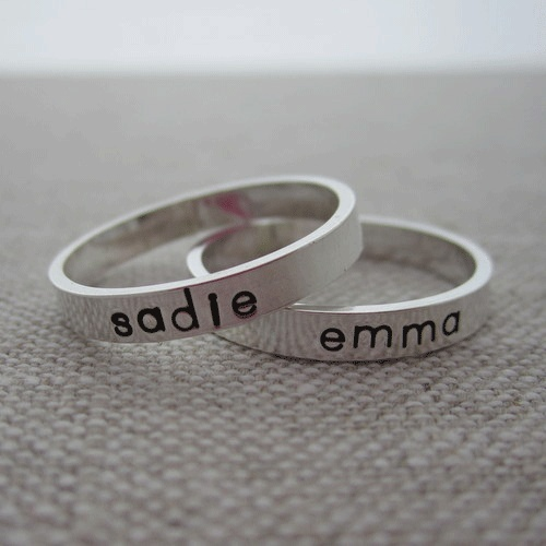 personalized mother's ring