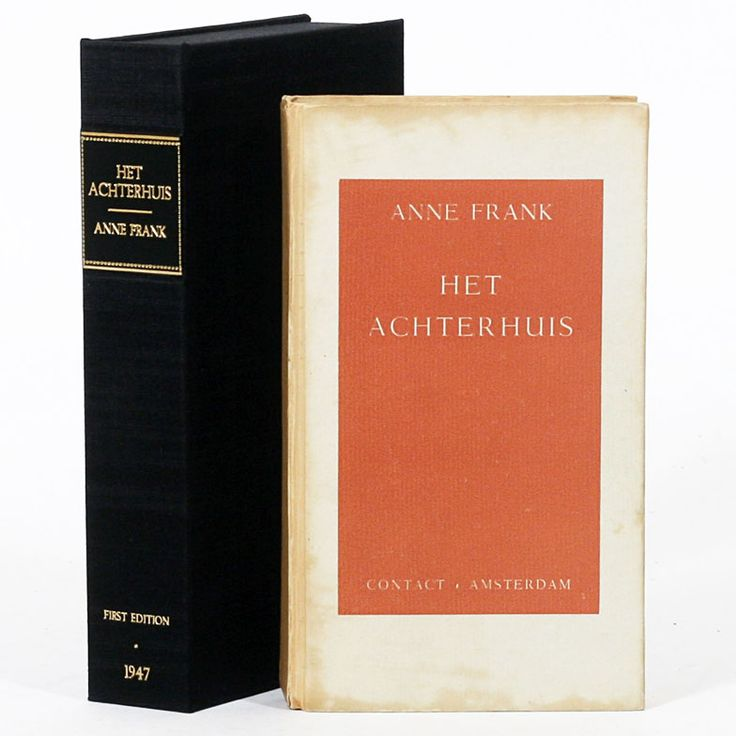 Anne Frank - Het Achterhuis [The Secret Annex; Anne Frank: Diary of a Young Girl], First Edition.  This and other rare books for sale on the CuratorsEye.com