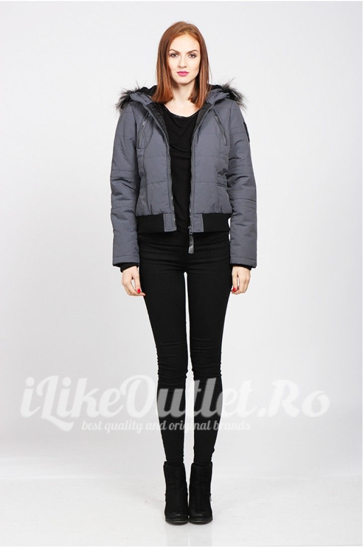 Gray winter jacket - ONLY