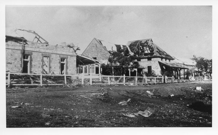 Darwin's post office was in ruins after the bombing of the city, 19 February 1942.