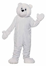 The special event, #parade, #game, or party will be a blast with this big white fluffy #bear #Mascot. This mascot comes with a plush white #jumpsuit with attached mittens with hidden openings, complete with an oversized mascot head with see through eye mesh, and a pair of foot covers. Aadorable Snuff plush bear is certainly a crowd pleaser.