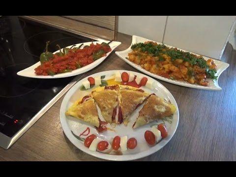 Kahvaltılarınıza Yapabileceginiz Patates Kavurmasi, Pastırmalı Omlet ve Biber Kızartmasının tarifi - YouTube