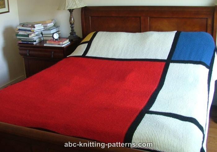 ABC Knitting Patterns - Mondrian Throw