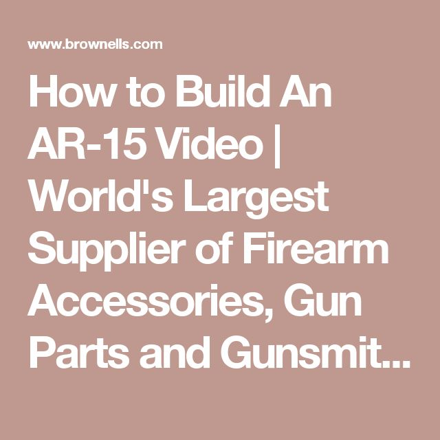 1534 best gun fix images on pinterest weapons firearms and hand brownells is your home for firearm accessories gun parts gunsmithing tools reloading and shooting supplies backed by our satisfaction guarantee fandeluxe Choice Image