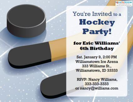 22 best Invitations images on Pinterest Invitation templates - hockey templates free