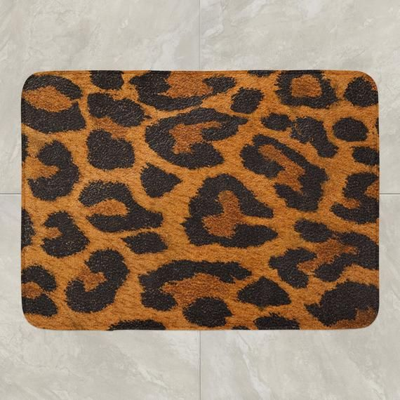 Leopard Bath Rugs Home Decorating